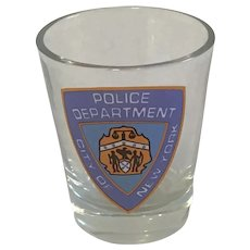 Souvenir New York Police Department Shot Glass