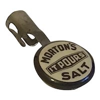 Morton Salt Advertising Pen or Pencil Button Clip