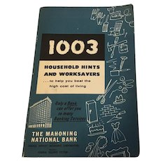 1003 Household Hints and Worksavers 1952 The Mahoning National Bank