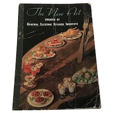 1934 General Electric Refrigerator recipe booklet featuring the latest refrigerator from GE