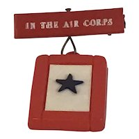 "World War II Sweetheart Blue Star pin ""In the Air Corps"""