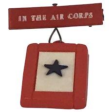 "World War II Sweetheart Blue Star pin ""In the Air Corps"""