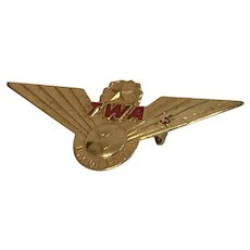 Vintage TWA Junior Pilot Wings Metal Pin