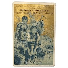 Trade Card  Celebrated Roasted Asoria Knowles Cloyes & Co Wholesale Grocer