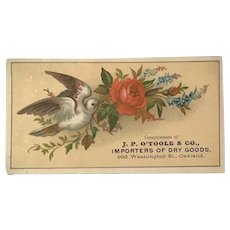 Advertising Trade Card. J.P. O'Toole Dry Goods