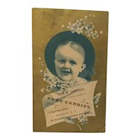 Ira A. Lovejoy Pure Candies Victorian Trade Card
