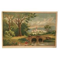 Victorian Trade Card. Laureline Skin Care. W. T. Palmer Prescription Druggist, Rockford, Illinois