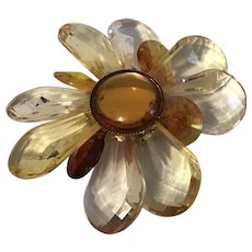 Bold Lucite Flower Pin