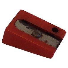 Vintage Red Bakelite Pencil Sharpener