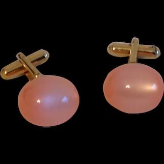 Vintage Cotton Candy Pink Ball Cufflinks