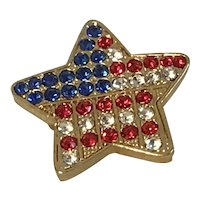 Patriotic Red White and Blue Star Pin