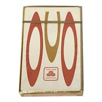 60's Op Art State Farm Insurance Sealed Deck of Playing Cards Brown and Bigelow