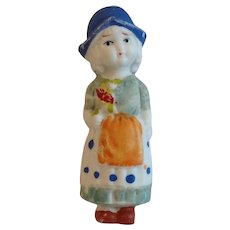 Bisque Hand Painted Dutch Girl Japan