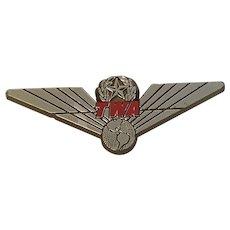 Vintage 1990's TWA Junior Wings Stoffel Seals