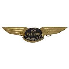 Vintage mid-80's Metal KLM Royal Dutch Airlines Junior Pilot Wings