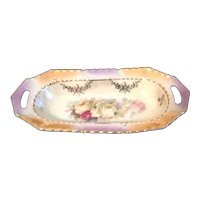 Lusterware China Shallow Bowl with Fenestrated Handles