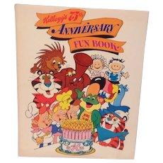 1980 Kellogg's 75th Anniversary Fun Book Activities for Children