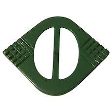 Early Plastic Art Deco Belt Buckle or Slide