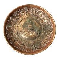 1933 Century of Progress Chicago Brass Pin Tray