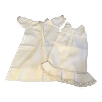 Antique White Baby Doll Dress and Slip