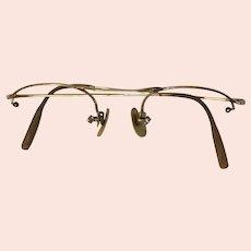 1/10 12K Gold Filled Eyeglass Half Frames.