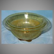 Set of Two Amber Federal Glass Nesting Mixing Bowls