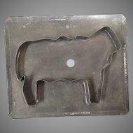 Primitive tin flat back sheep cookie cutter