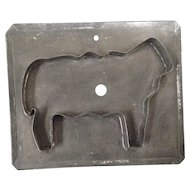 Primitive tin flat back sheep cookie cutter