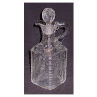 Maple Leaf  Stoppered Decanter  Model Flint Glass Co. Albany, Indiana
