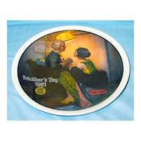 """Normal Rockwell """"After the Party""""  1981 Mother's Day Collector Plate"""