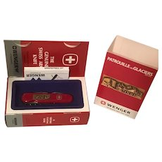 2000 Commemorative Patrouille des Glaciers Swiss Army Knife with presentation box and paperwork