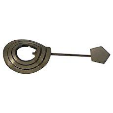 Art Deco Celluloid Collar Pin