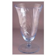 Blue Cambridge Caprice 12 oz Iced Tea Goblet