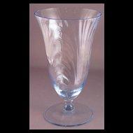 Blue Cambridge Caprice 12 oz Iced Tea Goblet