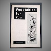 "1953 University of Missouri Agricultural Extension Service Circular #627 ""Vegetables for You"""