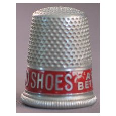 Advertising Thimble Star Brand Shoes
