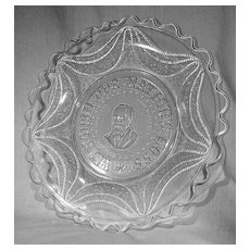 "Garfield Drape Memorial Plate ""We Mourn Our Nation's Loss"""