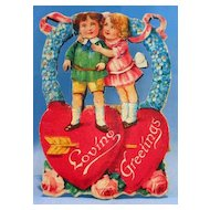Small Die Cut Stand-up German Valentine