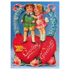 Small Die Cut Stand-up German Valentine