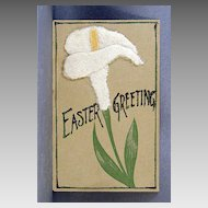 1907 Undivided back Easter card with add-ons