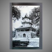Real Photo Post Card 1907 Undivided Back Pagoda Garfield Park, Chicago