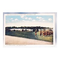 Postcard Army Cantonment Camp Chickamauga Park World War I