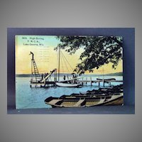 1914 Post Card  Y.M.C.A. Lake Geneva, Wisconsin