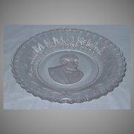 Garfield Memorial Bread Plate American Historical Glass
