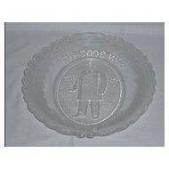 "President McKinley Memorial Platter ""It is God's Way His Will Be Done"""