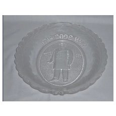 """President McKinley Memorial Platter """"It is God's Way His Will Be Done"""""""