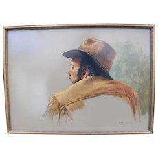 Rare Robert Clark self portrait study(Free shipping)