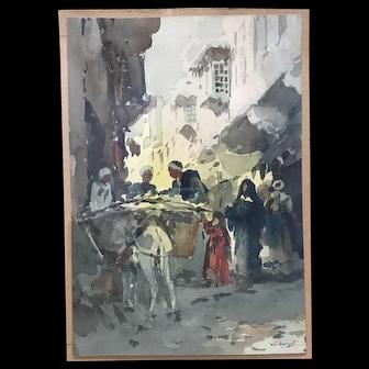 D. Hidayet-Orientalist watercolor