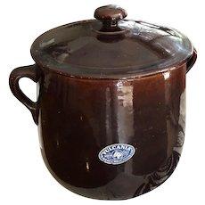 Rare large Italian Vulcania bean pot