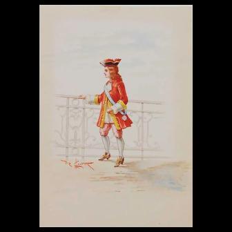 Lodovico De Courten-2 watercolors